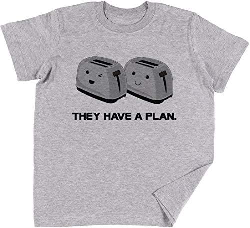 Vendax Tostadoras Niños Chicos Chicas Unisexo Camiseta Gris