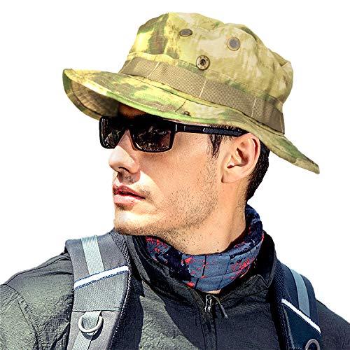 MerryBIY Breit Voller Sonne Krempe Braun Camouflage Grün Mesh Design Angeln Wandern Hat Cap Army Camo Man Frauen Bucket Hat Boonie Camping Jagd Dejeuner Gap (Bucket Mesh Hat Baumwolle)