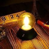 Beleuchtung Loft Vintage Retro Licht Tischleuchte - Forepin LED Nachtlicht Aufladbar Batterie mit USB Ladekabel, Retro Englisch Stil Mini-Stimmungslicht für Nachtbeleuchtung, Schlafzimmer, Wohnzimmer, Babyzimmer, Couchtisch - Romantische Atmosphäre