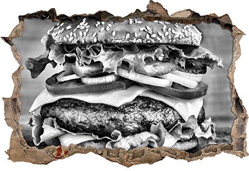 monocrome-hamburger-mcdonald-cheeseburger-carne-di-hamburger-mangiare-svolta-a-muro-in-look-3d-paret