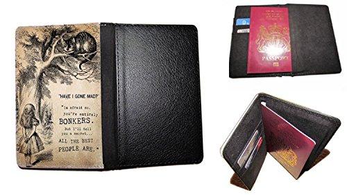 Have I Gone Mad Alice im Wunderland passt Travel Passport Cover Fall UK Passport Dokument