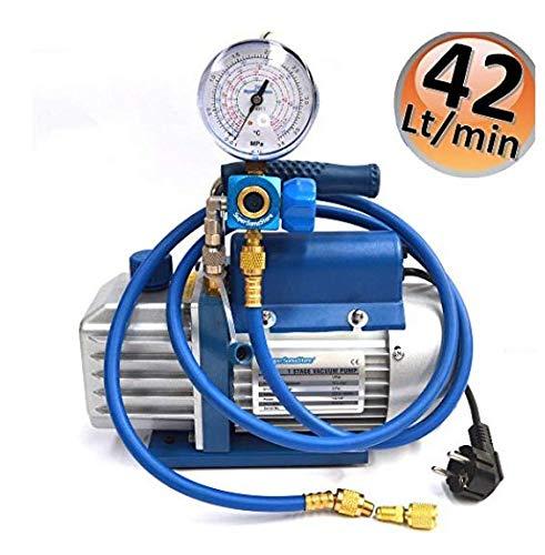 Kit carica e vuoto - Pompa 42 Lt/min - manometro e frust