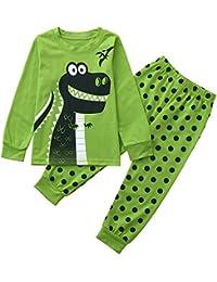 POLP Ropa niña Camiseta con Estampado de Dinosaurio de Manga Larga para niños + pantalón de