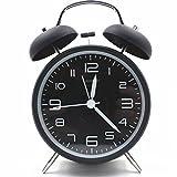 """Best Vintage Alarm Clocks - Hemara 4"""" Quiet Non-ticking Silent Quartz Analog Retro Review"""