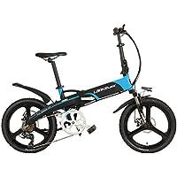 LANKELEISI G660 Elite 20 Pouces vélo électrique Pliant, Batterie au Lithium 48V 10Ah, Cadre en Alliage d'aluminium, Roue intégrée, 5 Grade Assist,Cycles à Assistance électrique.