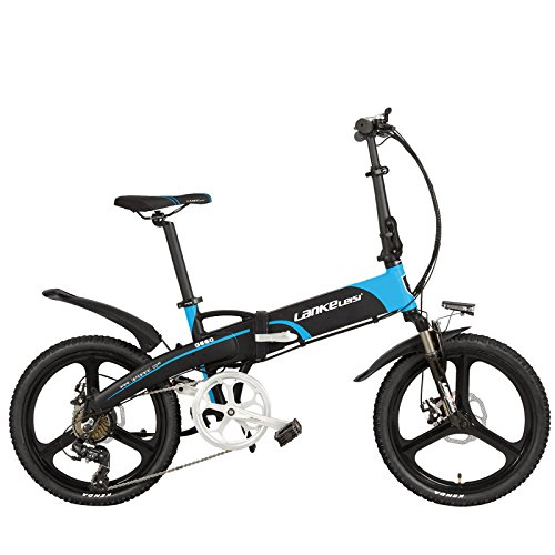 51j78quye7L. SS500  - LANKELEISI G660 Elite 20 Inches Folding Pedal Assist Electric Bike, 48V 10Ah Lithium Battery, Aluminum Alloy Frame, Integrated Wheel, 5 Grade Assist,Pedelec.