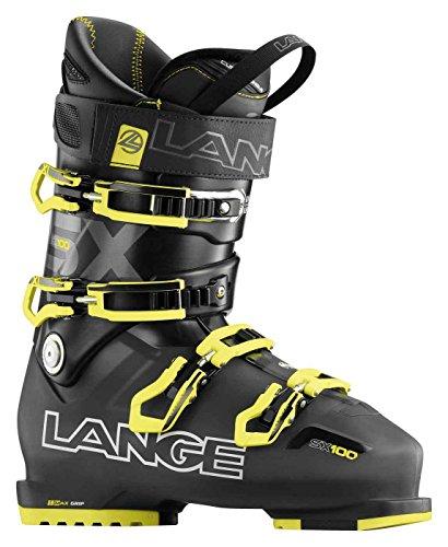 Lange, SX 100-Scarponi da sci per uomo, colore: Nero/Giallo, UOMO, SX 100, nero / giallo, 28.5
