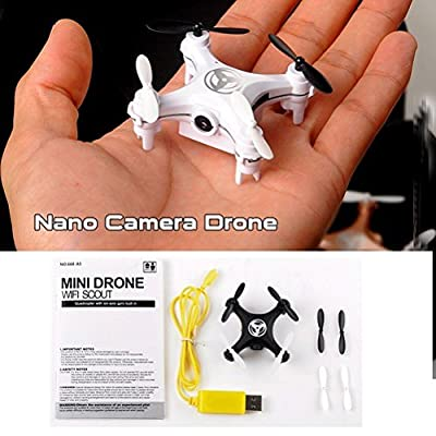 Great Gift For Kids ! Wifi Mini Camera Nano Rc Quadcopter 2.4ghz 4ch 6-axis Gyro 3d Ufo Drone With / Game Play Educational Creative Toddler Boys Girls Unique Special Birthday Gift Party Christmas XMAS Present Idea Construction Garage Outdoor Child Kiddie