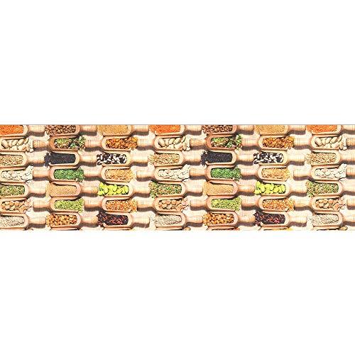 Tappeto passatoia fantasia legumi cucina antiscivolo lavabile varie misure - fantasia - 50 x 300 cm