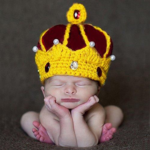 (Sunfire King Krone Gap Neugeborene Crochet Knit Kostüm Fotografie Prop Outfits)