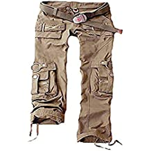 Juicy Trendz Mujeres Pantalones Ejército Militar Señoras Casual Carga Pantalones