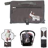 intipal Baby–Cambiador de pañales pañales cambiador con bolsillos de almacenamiento–Portable Estación de cambio de pañales Kit de embrague para viajes y hogar