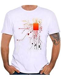 STRIR Camiseta Hombre Camisetas de Impresión de Tallas Grandes de Hombres Chico Niños Camiseta de Algodón de Manga Corta… 8FoWQaCpn