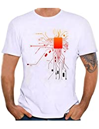 STRIR Camiseta Hombre Camisetas de Impresión de Tallas Grandes de Hombres Chico Niños Camiseta de Algodón de Manga Corta…