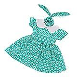 MagiDeal Hübscher Puppenkleid Sommer Kleider & Haarband Puppenkleidung Für 18 Zoll American Girl...