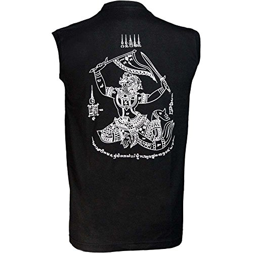 BOON Sleeveless Shirt, Hanuman, Tank Top, Muay Thai, MMA, Tee, Kickboxen Größe L Kickboxen Training-equipment