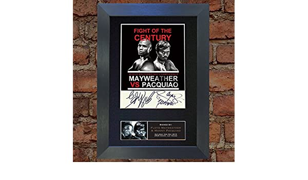SILVER FRAME MR.JDS TOP PHOTOS MANNY PACQUIAO//FLOYD MAYWEATHER signed autograph framed photo repro A4 print 563