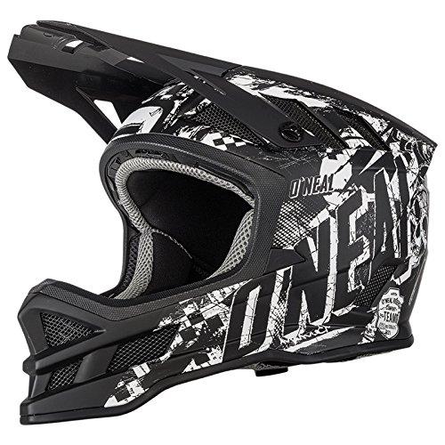 O'Neal Blade Rider Schwarz Weiß Fahrrad Helm Downhill MTB Mountain Bike FR DH Fullface, 0450-R1, Größe XL