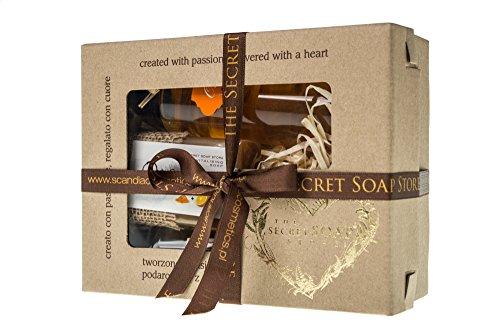 "3-tlg Pflegeset Geschenkset ""Orange"" Naturkosmetik: Bio-Seife (110 g), Duschöl (200 ml), Massageöl (100 ml). Sensationelles Bade-Set!"