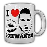 I love Schwänze Penis Glied Gay Homo Fun Köln blasen Sex Männer Frauen Schwengel Prengel Schwanz lutschen Büro Kollegen - Kaffee Becher Tasse Cup Mug #18397