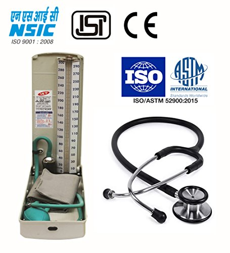 MCP Conventional Blood Pressure Monitor Sphygmomanometer Deluxe with Stethoscope