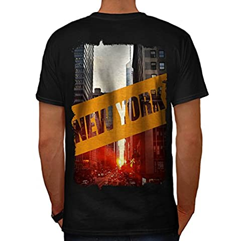 New York City Street USA Men M T-shirt Back | Wellcoda