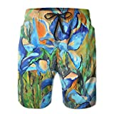 Board shorts Have Pockets,waist Elastic Design With Built-in Rope,are Very Comfortable To Wear.Go For Golf,Walking,Running,Hikking,In The Beach,Swimming,Hot Springs,Surf,Outdoors,Workout,Play Basketball,Bathing Or At Home.Clear And Bright Pattern For...