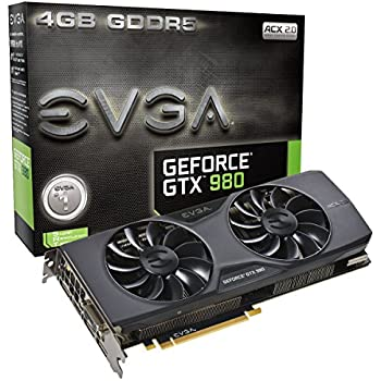 EVGA GTX980 Scheda Video 4GB, Nero