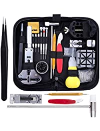 Zacro 153pcs Watch Repair Tool Kit Professional Spring Bar Tool Set, Watch Band Link Pin Tool Set with Carrying Case