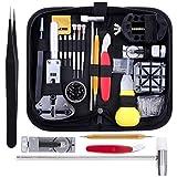 Zacro 151pcs Kit de Réparation Montre Kit Outil de Réparation de Montre avec Ouvre-boîtier Professionnel Professionnel pour Homme et Femme