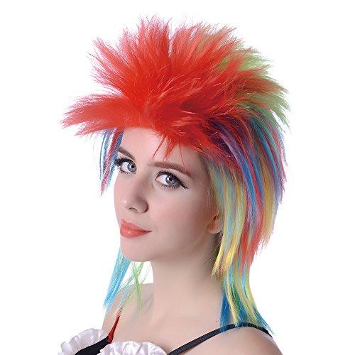 80s Halloween Karneval Meeräsche wig-glam Punk Wave Pop Rocker mit Spiky Haar -