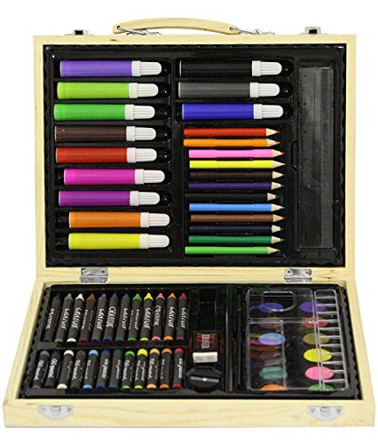 Generic Raft AR Farben Stifte Pen ET Holz BO Fall Kreiden yons Farben Kinder Craft Art TS Set Holz Deutscher Künstler Set NS CRA Holzbox, Craft (Farbstifte, Deutsch)