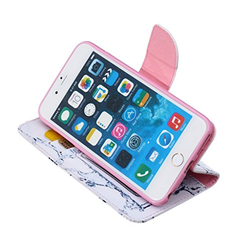 Mo-Beauty ® Custodia a Portafoglio in Pelle per Apple iPhone 6/6S con Proteggi Schermo in Vetro Temperato, Flip Case con Motivo Colorato Integrale, con Stand e Tasche per Carte, per iPhone 6/6S, Ecope Perfume