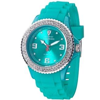 Detomaso DT3008-G – Reloj analógico de Cuarzo para Mujer con Correa de Silicona, Color Verde