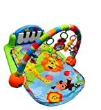 Bubble Hut Kick and Play Piano Gym with Hanging Toys, Multi Color