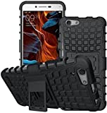 #6: eCosmos || vivo v5 Defender || Case for Dual Layer Tough Rugged Shockproof Hybrid Warrior Armor Case Back Cover With Kickstand for ||vivo v5|| Black