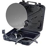 PremiumX Camping SAT Koffer Mobil Set Spiegel Saugfuss Masthalterung Antenne Schüssel Campingkoffer HDTV FULLHD 4K 3D
