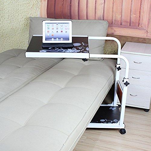 Tische Zr- Faule Tabelle Aufzug Computertisch Am Bett Handy, Mobiltelefon Teleskopisch Notebooktisch Schreibtisch C Art Krankenpflegetisch Haushalt Fahrbarer (Farbe : Schwarz)