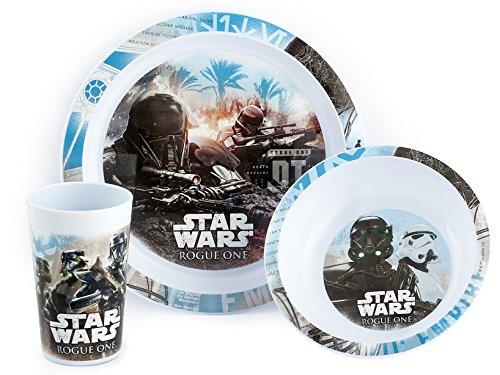 Lulabi Rogue One Star Wars Confezione 3 Pezzi Bimbo, Polipropilene, Multicolore, 9x27x25 cm