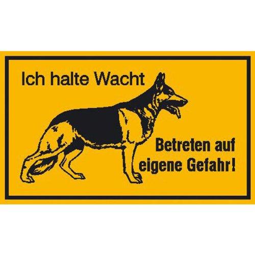 Schäferhund Hinweisschild zur Grundbesitzkennzeichnung, Alu, Größe 25x15 cm