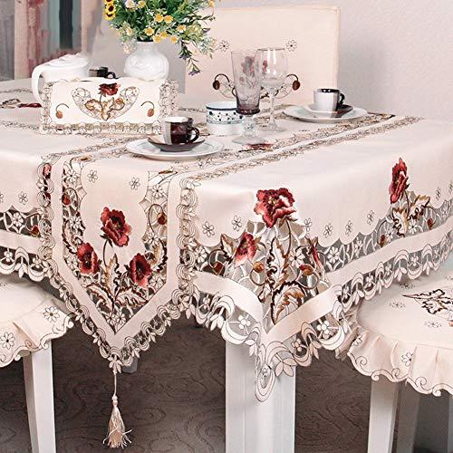 Livecity Blumentisch Dekor Tischdecke, Blumenspitze Hochzeitsfeier Bestickt Schreibtisch Tee Tischdecke Abdeckung Dekoration 56 * 56 cm (Tischdecke Dekor)