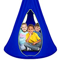 Sorbus Kids Nest Swing Chair Nook - Hanging Seat Hammock for Indoor Outdoor Use - Great for Children, All Accessories Included