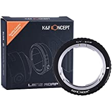 K&F Concept Adaptador de Lente para Montar Contax Yashica C/Y Lente a Canon EOS, para Canon EOS 1D, 1DS, Mark II, III, IV, 5D, Mark II, 7D, 30D, 40D, 50D, 60D, 70D, Digital Rebel T2i, T3, T3i, T4i, T5i, SL1, 300D, 350D, 400D, 450D, 500D, 550D, 1000D