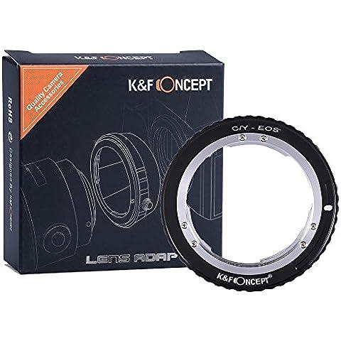 K&F Concept Adaptador de Lente para Montar Contax Yashica C/Y Lente a Canon EOS, para Canon EOS 1D, 1DS, Mark II, III, IV, 5D, Mark II, 7D, 30D, 40D, 50D, 60D, 70D, Digital Rebel T2i, T3, T3i, T4i, T5i, SL1, 300D, 350D, 400D, 450D, 500D, 550D,
