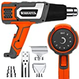 Terratek Pro 2000W Heat Gun Professional Hot Air Gun, Variable Temperature Control 80°C