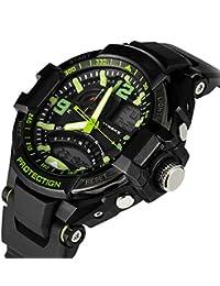 Malloom® hombres deportes relojes de pulsera digital LED natación reloj verde