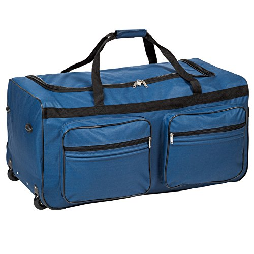tectake-xxl-extra-large-travel-trolley-bag-holdall-on-wheels-telescopic-handle-160l-different-colour