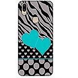 For Vivo V9 Grey Black Line ( Grey Black Line, Grey Black Heart, Blue Heart ) Printed Designer Back Case Cover By King Case