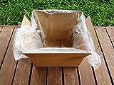 (200pezzi) in HDPE 60x 20x 60cm, 12micron pastiglie per scatole, polietilene contatore borse, sacchetti di plastica alimentare imballaggio pacchetto Wrap macellai Bakery Shop smaltimento dei rifiuti prodotto sicuro