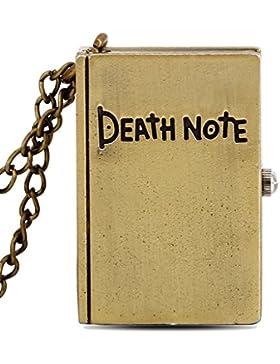Unendlich U Death Note mit arabischen Ziffern Quarz Taschenuhr,Bronze